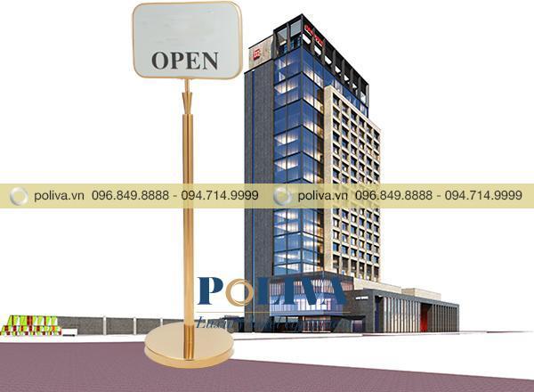 Biển chỉ dẫn thường được sử dụng trong các nhà hàng, khách sạn, trung tâm thương mại