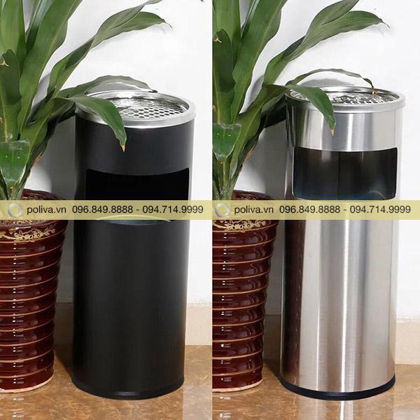 Hiện tại Poliva có sẵn mẫu thùng đựng rác màu đen