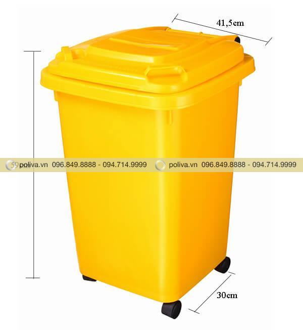 Thông số kích thước thùng đựng rác thải y tế