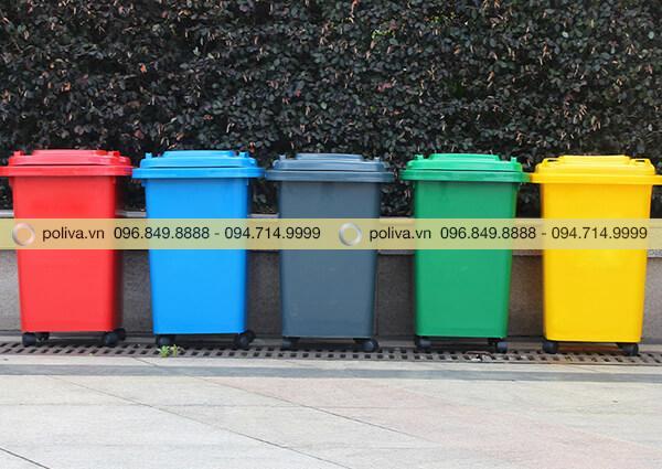Thùng rác 50 lít có nhiều màu