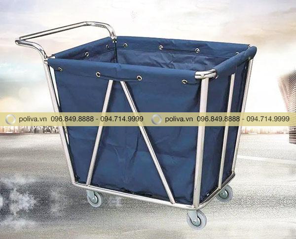 Xe chở đồ giặt là giúp thu gom đồ vải nhanh chóng, tiện lợi hơn