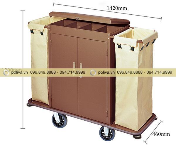 Kích thước xe đẩy làm phòng dùng trong khách sạn