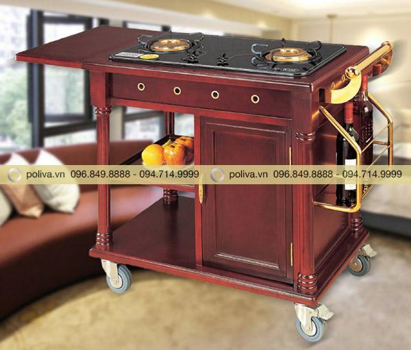 Hình ảnh thực tế xe đẩy phục vụ bàn bếp di động