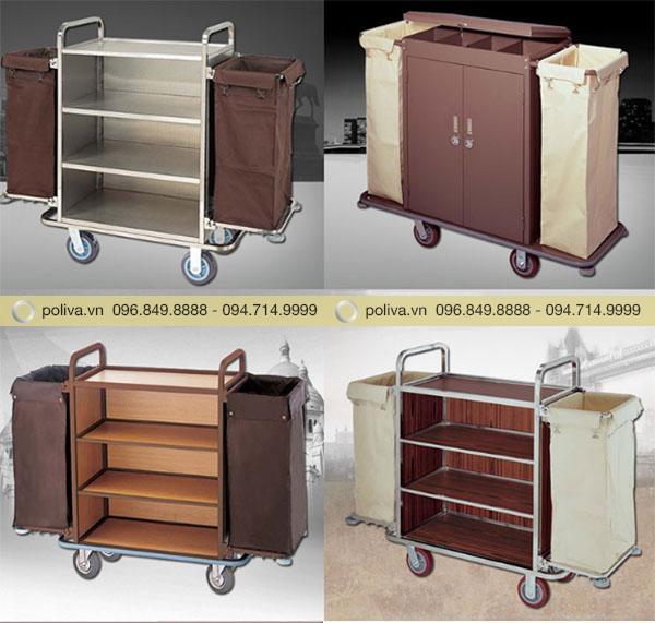 Poliva chuyên phân phối các loại xe làm buồng phòng khách sạn, bệnh viện...