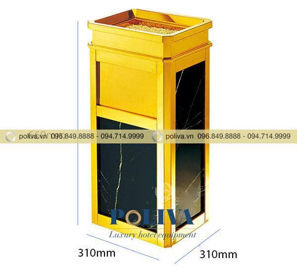Thùng rác inox có kích thước nhỏ gọn