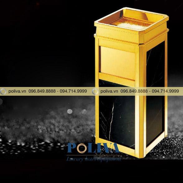 Hình ảnh thùng rác inox đá hoa cương
