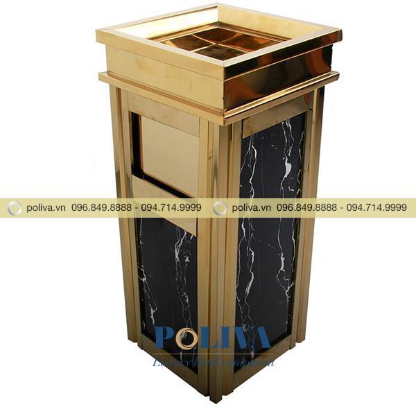 Thùng rác inox có nhiều ưu điểm như bền bỉ, kiểu dáng sang trọng, màu sắc nổi bật