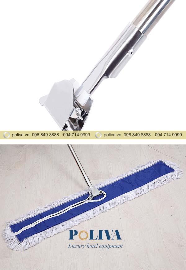 Khung và kẹp giẻ lau chắc chắn, dễ sử dụng