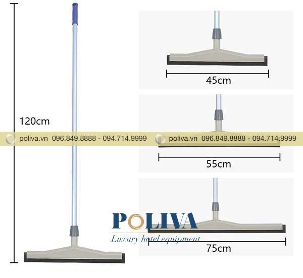 Kích thước đa dạng của bộ gạt nước sàn nhà