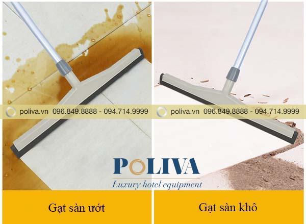 Bộ gạt sàn nhựa có thể gạt nước hoặc gạt bụi bẩn ở sàn khô