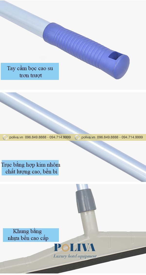 Mô tả cấu tạo các phần của bộ gạt sàn nhựa lưỡi cao su