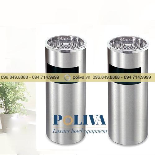 Thùng rác Inox 304 có gạt tàn