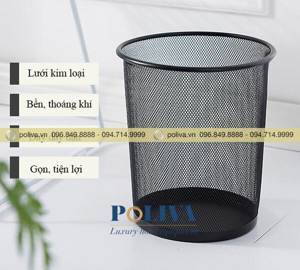 Các ưu điểm của thùng rác không nắp