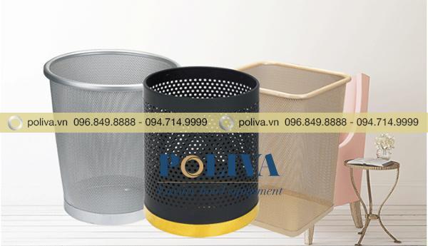 Hình ảnh thực tế sản phẩm thùng rác tròn không nắp