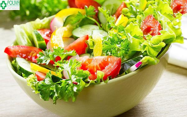 Tăng cường chế độ ăn khoa học, nhiều rau xanh