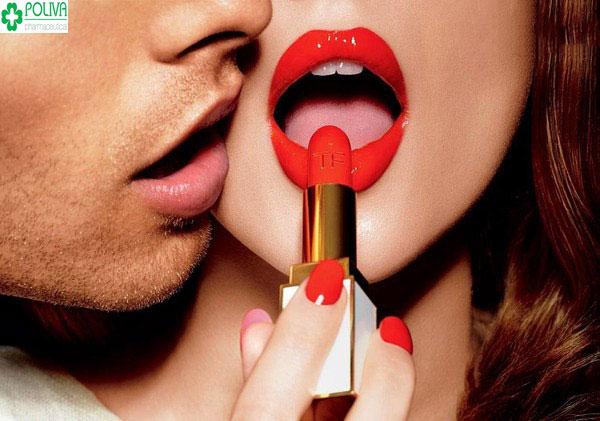 Đôi môi chính là nơi tập trung nhiều các dây thần kinh tạo cảm giác ham muốn nhất