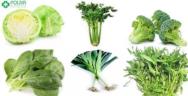 Các thực phẩm có màu xanh lá cây giúp duy trì cân bằng hoóc môn