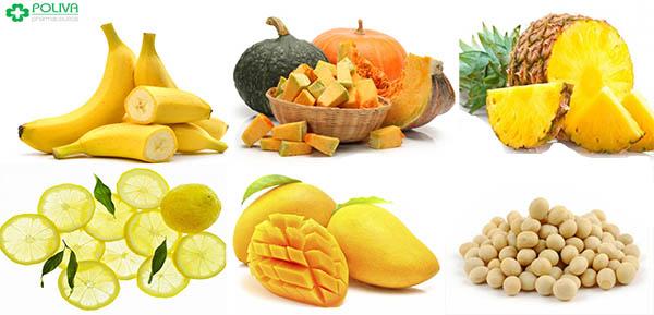 Thực phẩm có màu vàng giúp duy trì sản sinh nội tiết tố nữ