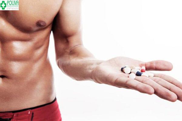 Thuốc tăng cơ bắp cho nam - mặt hàng cấm nhưng thu hút phái mạnh.