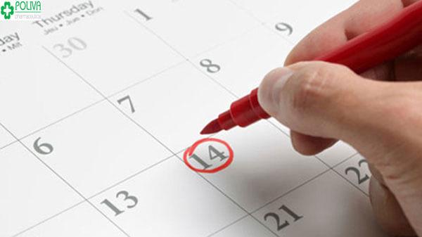 Ngày thứ 14 của chu kỳ kinh nguyệt được coi là dấu mốc quan trọng