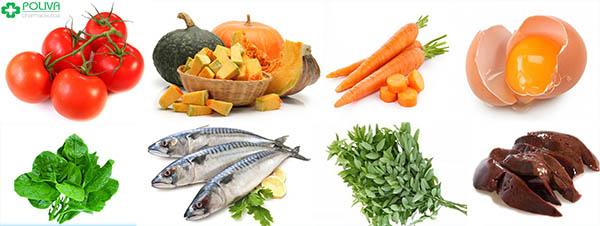 Các thực phẩm giàu vitamin A