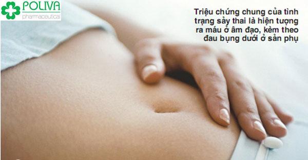 Đau lưng, co thắt tử cung và đau bụng dưới là dấu hiệu của sẩy thai