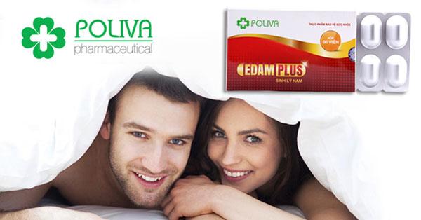 Poliva Edam Plus giúp hỗ trợ điều trị cuất tinh sớm một cách an toàn, hiệu quả, không tác dụng phụ
