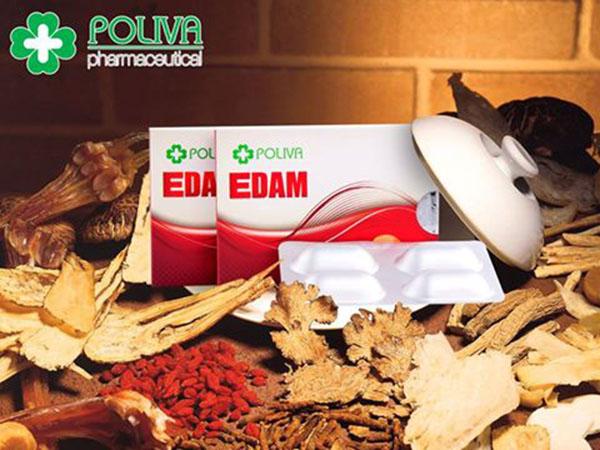 Poliva Edam có hàm lượng tiêu chuẩn từ các thảo dược quý như dâm dương hoắc, đông trùng hạ thảo giup cải thiện sinh lý nam một cách hiệu quả