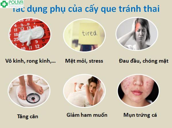 Các tác dụng phụ của que cấy tránh thai