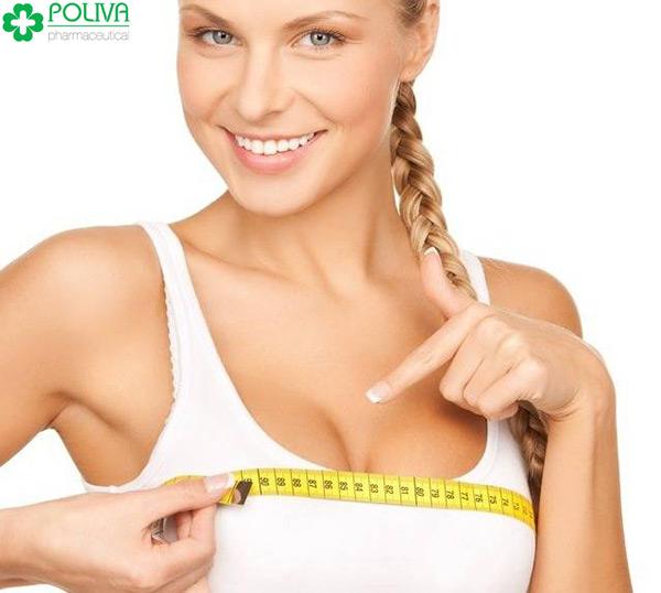 Vòng ngực săn chắc chứng tỏ nội tiết tố nữ cao