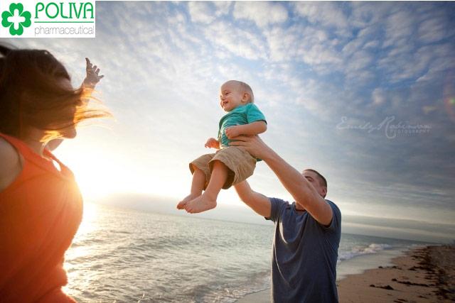 Tình yêu của bố mẹ là nhìn thấy con khỏe mạnh