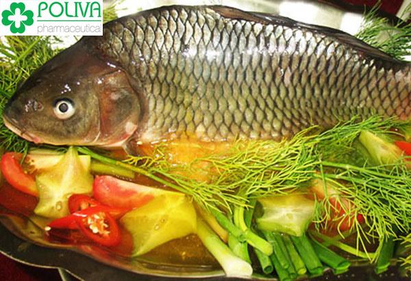 Cá chép là nguồn thực phẩm bổ sung nhiều dinh dưỡng cho mẹ và bé