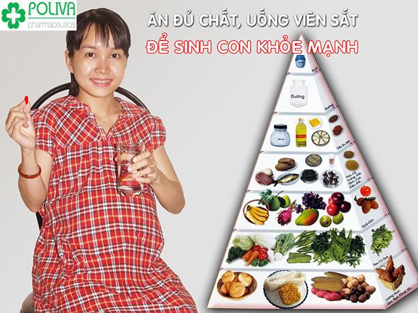 Bà bầu thiếu máu cần bổ sung gấp các loại thực phẩm giàu dinh dưỡng