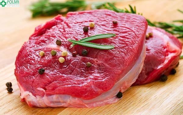 Thịt bò bổ sung sắt, các loại vitamin rất tốt cho cơ thể mẹ và con