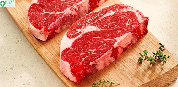 Thịt bò rất giàu vitamin, protein rất tốt cho mẹ sau sinh mổ