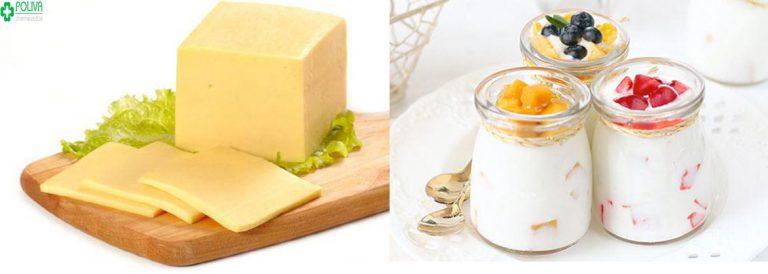 Sữa chua, phô mai là những thực phẩm giúp bạn trả lời câu hỏi ăn gì để sinh con gái