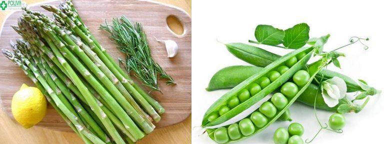 Măng tây, đậu Hà Lan là những thực phẩm rau xanh giúp các cặp đôi sinh con trai như ý muốn