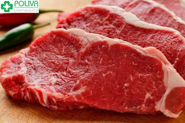 Thịt bò chứa nhiều sắt và kẽm giúp trẻ tăng cường trí nhớ và sự tập trung.
