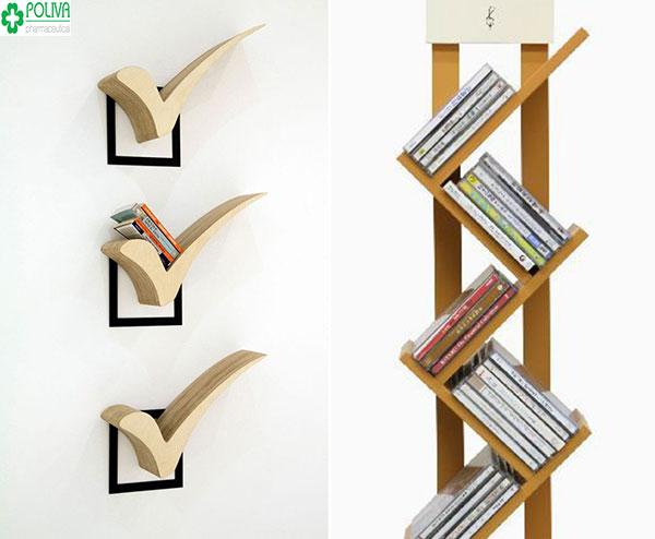 """""""Biến hóa"""" đa dạng với nhiều kiểu dáng thiết kế kệ sách khác nhau"""