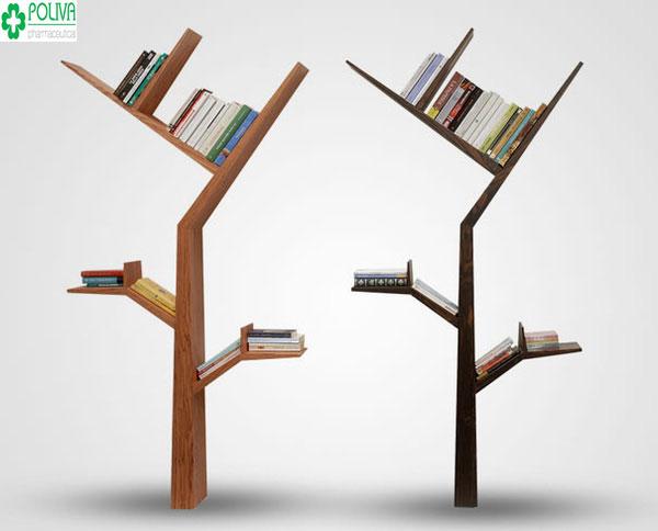 Tiện lợi và sáng tạo với kiểu kệ sách được thiết kế hình cây khá độc đáo
