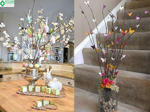 Sử dụng hoa giấy để trang trí nhà cửa giúp không gian nhà ở  sinh động hơn