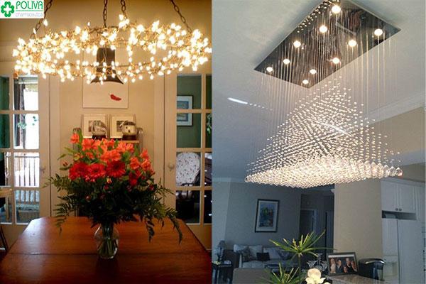 Đèn chùm rất đẹp và tăng nét sang trọng cho ngôi nhà