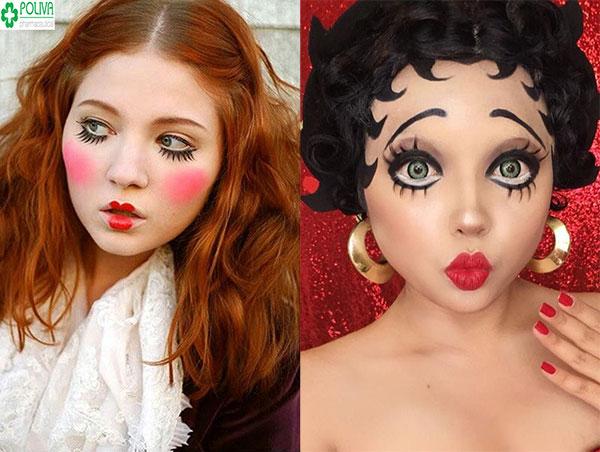Đáng yêu với kiểu makeup xinh như như búp bê