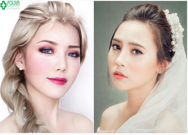 """Makeup """"tuyết tan"""" là một trong các phong cách trang điểm cô dâu tuyệt đẹp trong ngày cưới"""