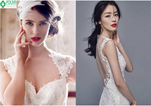 Makeup kiểu lai Tây giúp cô dâu trở nên cuốn hút, đẹp lộng lẫy