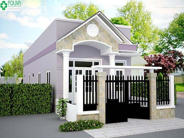 Kiểu kết hợp mái thái với mái bằng tạo nên vẻ đẹp độc đáo cho ngôi nhà