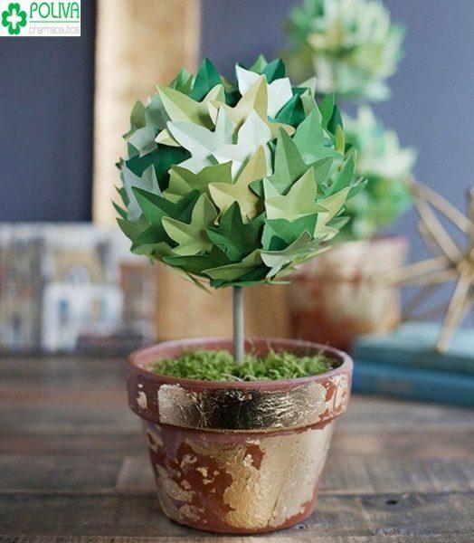 Thay đổi không gian nhà với cây xanh bằng giấy độc đáo