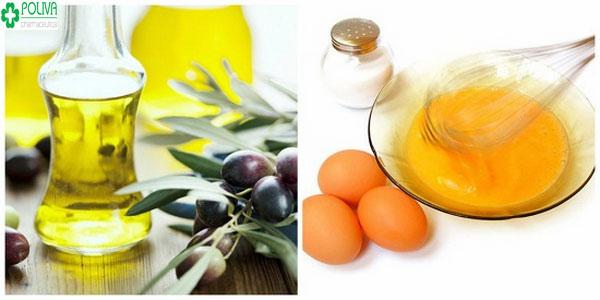 Với những bạn gái có mái tóc khô, dầu nên sử dụng trứng gà kết hợp dầu oliu để dưỡng tóc