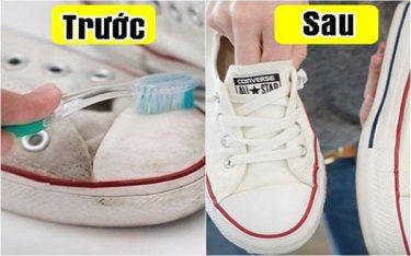 """Cách giữ giày trắng mới như """"đập hộp"""" trong tích tắc"""