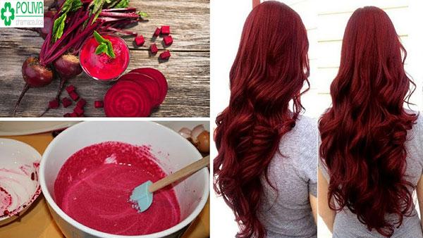 Cách nhuộm tóc tự nhiên bằng củ dền cho màu đỏ hung đẹp